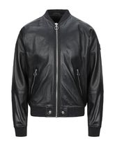 DIESEL Plain Leather MA-1 Bomber Jackets
