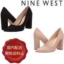 Nine West Plain Leather Block Heels Party Style
