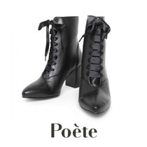Poete Casual Style Block Heels Party Style Elegant Style