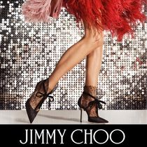Jimmy Choo Dots Suede Blended Fabrics Pin Heels Party Style
