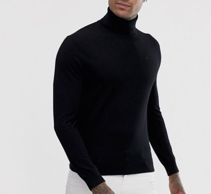 A/X Armani Exchange Knits & Sweaters Pullovers Wool Street Style Long Sleeves Plain 2