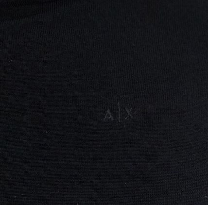 A/X Armani Exchange Knits & Sweaters Pullovers Wool Street Style Long Sleeves Plain 6