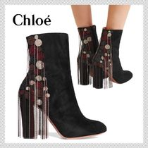 Chloe Suede Ankle & Booties Boots