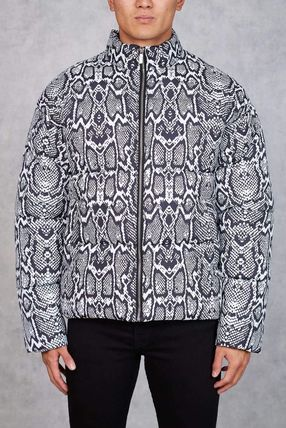 Short Nylon Street Style Plain Python Down Jackets