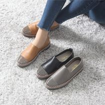 Platform Moccasin Round Toe Rubber Sole Casual Style