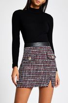 Lipsy Pencil Skirts Short Other Plaid Patterns Tweed Nylon Cotton