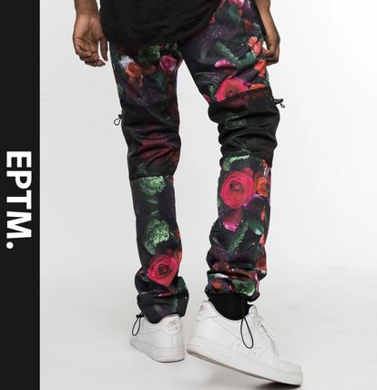 Flower Patterns Street Style Joggers & Sweatpants