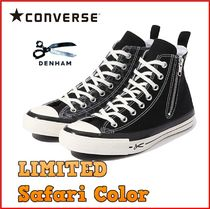 CONVERSE ALL STAR Leopard Patterns Unisex Street Style Collaboration Bi-color