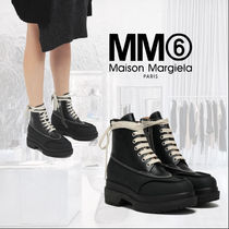 MM6 Maison Margiela Mountain Boots Round Toe Rubber Sole Lace-up Casual Style