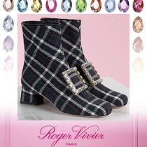 Roger Vivier Tartan Other Check Patterns Plain Toe Round Toe Rubber Sole