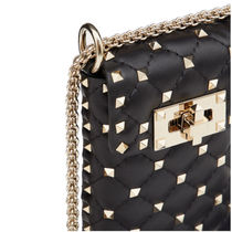 VALENTINO Studded Plain Leather Smart Phone Cases