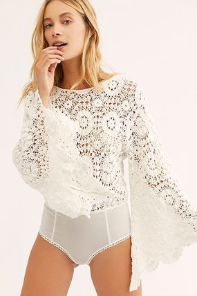 Casual Style Long Sleeves Medium Party Style Lace