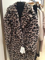 Diffusione Tessile Leopard Patterns Wool Blended Fabrics Long Party Style