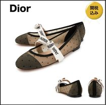 Christian Dior JADIOR Dots Platform Casual Style Elegant Style Lace-Up Shoes