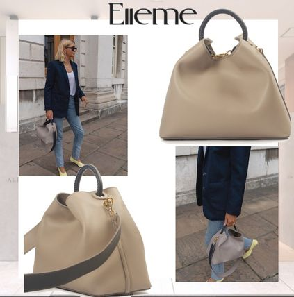 Casual Style 2WAY Leather Elegant Style Shoulder Bags
