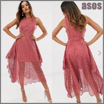 ASOS Sleeveless Flared Plain Medium Party Style Lace
