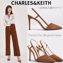 Charles&Keith Casual Style Suede Faux Fur Plain Party Style Office Style