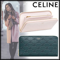 CELINE Monogram Calfskin Plain Long Wallets