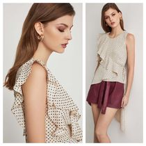 BCBG MAXAZRIA Casual Style Party Style Office Style Elegant Style Tops