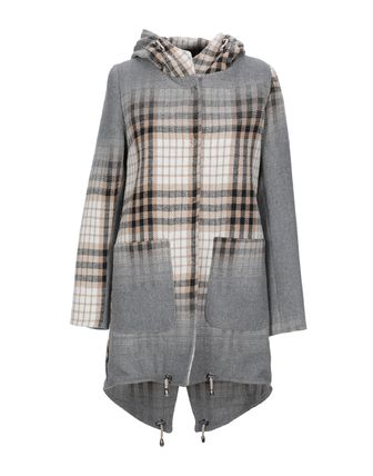 Other Check Patterns Wool Nylon Coats
