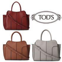 TOD'S Sella Casual Style 2WAY Plain Leather Office Style Elegant Style