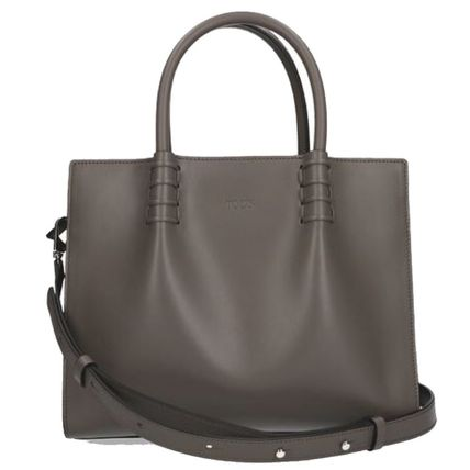 2WAY Plain Leather Totes