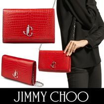 Jimmy Choo 2WAY 3WAY Chain Plain Other Animal Patterns Leather