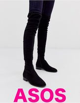 ASOS Casual Style Faux Fur Over-the-Knee Boots