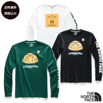 THE NORTH FACE Crew Neck Pullovers Unisex Street Style Plain Cotton