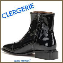 Robert Clergerie Plain Leather Block Heels Elegant Style