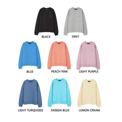 ANDERSSON BELL Sweatshirts Unisex Street Style Long Sleeves Plain Oversized Logo 2
