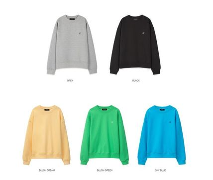 ANDERSSON BELL Sweatshirts Unisex Street Style Long Sleeves Plain Oversized Logo 3