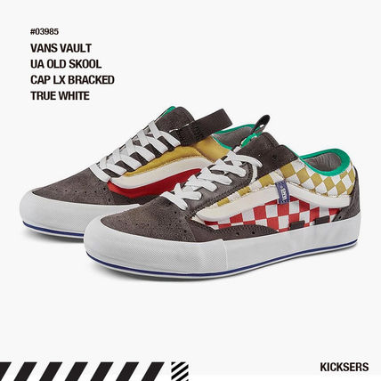 Other Plaid Patterns Unisex Suede Street Style Logo Sneakers