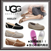 UGG Australia HAILEY FLUFF LOAFER Moccasin Casual Style Suede Plain Slip-On Shoes
