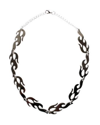Unisex Street Style Metal Logo Necklaces & Chokers