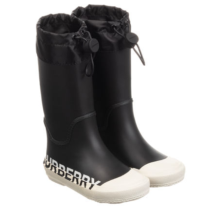 Burberry Unisex Street Style Kids Girl Rain Shoes