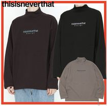 thisisneverthat Unisex Street Style Long Sleeves Cotton Long Sleeve T-Shirts