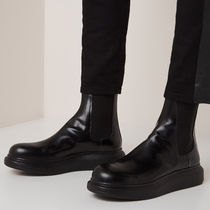 alexander mcqueen Blended Fabrics Plain Leather Chelsea Boots Chelsea Boots