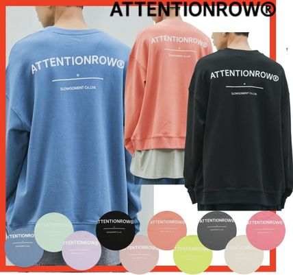 Unisex Street Style Long Sleeves Cotton Oversized