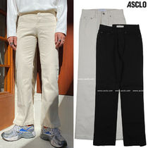 ASCLO Slax Pants Street Style Collaboration Plain Cotton
