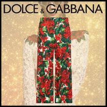 Dolce & Gabbana Flower Patterns Medium Elegant Style Culottes & Gaucho Pants