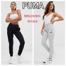 PUMA Casual Style Unisex Sweat Street Style Plain Long Sweatpants