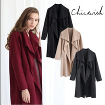 Chicwish Casual Style Plain Long Elegant Style Coats