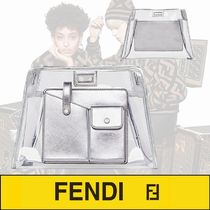 FENDI PEEKABOO Casual Style Plain Leather Crystal Clear Bags PVC Clothing