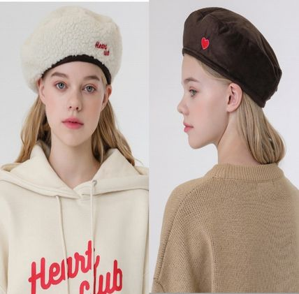 Blended Fabrics Street Style Shearling Beret