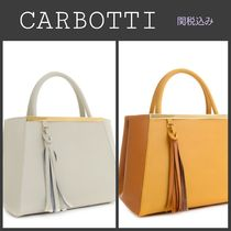 CARBOTTI Tassel Leather Totes