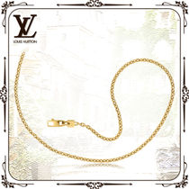 Louis Vuitton Unisex Chain Party Style 18K Gold Office Style Elegant Style