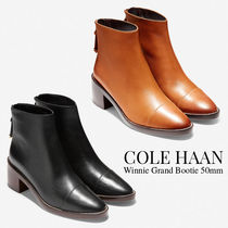 Cole Haan Plain Leather Block Heels Ankle & Booties Boots