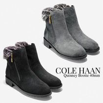 Cole Haan Plain Toe Casual Style Suede Plain Ankle & Booties Boots