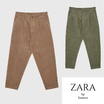 ZARA Corduroy Plain Cropped Pants